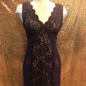 Burgundy Lace Dress - Prom/Formal